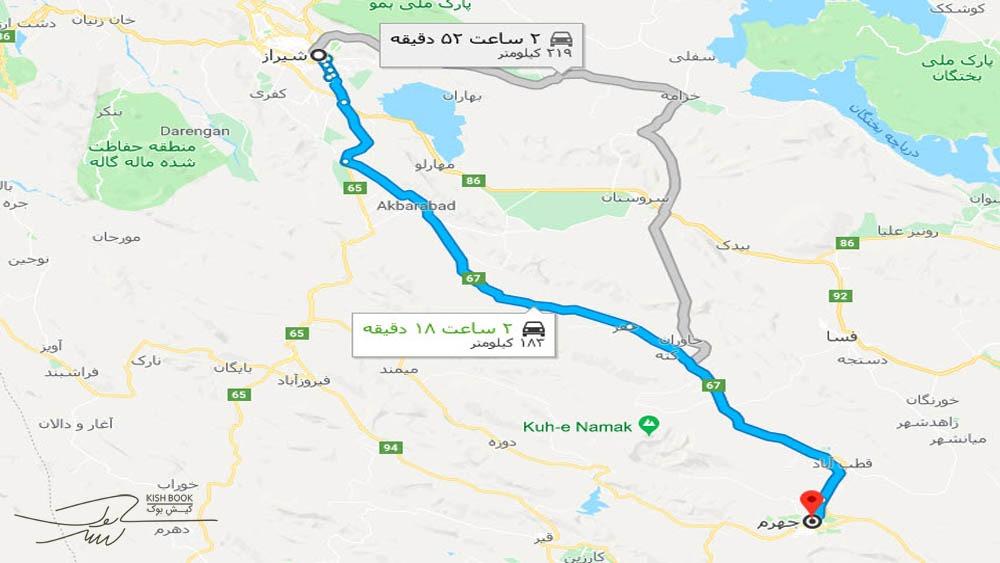 سفر زمینی از تهران تا کیش