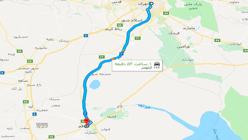 سفر زمینی از تهران به کیش