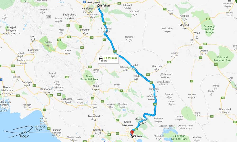 سفر زمینی از اصفهان به شیراز