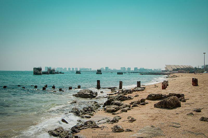 ساحل زیبای ماشه در کیش