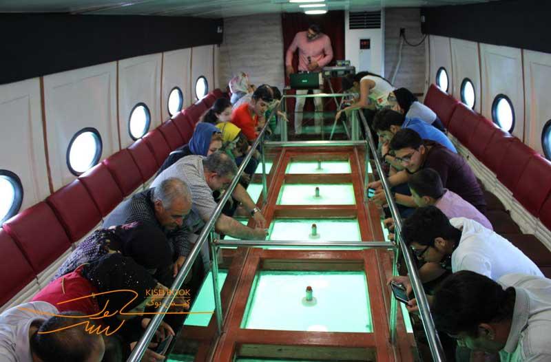 کشتی آکواریوم کف شیشهای
