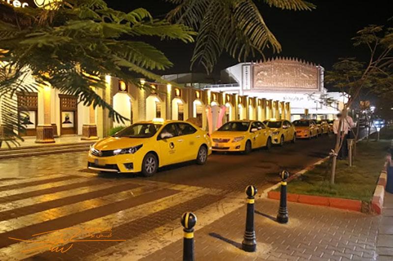 درآمد تاکسی در جزیره کیش
